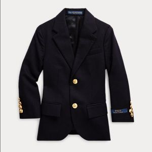 Polo by Ralph Lauren Wool Navy Boys Sports Coat